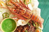 stock photo of lobster  - Lobster recipes include Lobster Newberg and Lobster Thermidor - JPG
