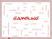 Gambling Word Cloud Concept On A Whiteboard