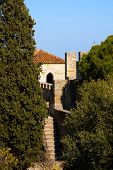 Lisbon, Portugal - February 01, 2013: Sao Jorge (St. George) Castle in Lisbon, Portugal. One of the