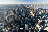 image of empire state building  - view of Manhattan from The Empire State Building - JPG