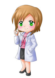foto of chibi  - Cute cartoon illustration of a doctor isolated on white - JPG