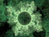 stock photo of virus scan  - 3d render illustration of colorful bacteria - JPG