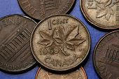 image of canada maple leaf  - Coins of Canada - JPG