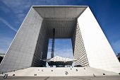 Wide Angle Photo Of La Grande Arche In La Defense In Paris