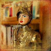 picture of paladin  - The Ancient Sicilian puppet on vintage texture - JPG