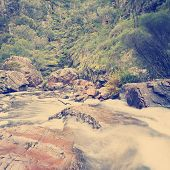 stock photo of mckenzie  - MacKenzie Falls waterfall in the Grampians region of Victoria Australia - JPG