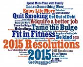 stock photo of trustworthiness  - New Year  Resolutions in word collage - JPG