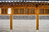 foto of seoul south korea  - Korea old Wooden wall seoul south korea - JPG
