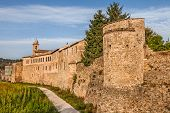 picture of fortified wall  - the medieval city walls of the ancient town Bevagna, Umbria, Italy