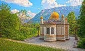 stock photo of munich residence  - An image of the beautiful moorish pavilion at Castle Linderhof - JPG