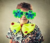 stock photo of only mature adults  - Merry old woman - JPG
