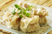 foto of chinese food  - Chinese steamed shumay dimsum dish - JPG