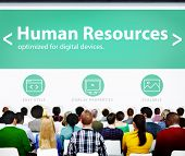 image of recruiting  - Human Resources Employment Job Recruitment Seminar Conference Concept - JPG