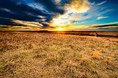 picture of prairie  - A sunset over Taberville Prairie in Missouri - JPG