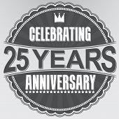 picture of celebrate  - Celebrating 25 years anniversary retro label - JPG