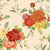 pic of shabby chic  - Seamless Floral Shabby Chic Background  - JPG