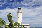 stock photo of mola  - Formentera La Mola lighthouse balearic islands mediterranean Sea - JPG