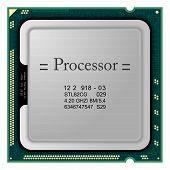 image of processor socket  - Realistic vector processor for computer - JPG