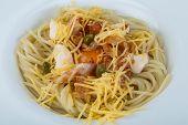 image of carbonara  - Pasta carbonara with parmesan cheese and bacon - JPG