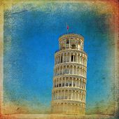 stock photo of piazza  - Piazza dei Miracoli complex with the leaning tower of Pisa Italy - JPG