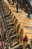 picture of sailing vessel  - Blocks and tackles of a sailing vessel