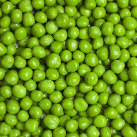 stock photo of sweet pea  - sweet bright green fresh peas square background - JPG
