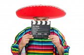 foto of clapper board  - Funny mexican with clapper - JPG