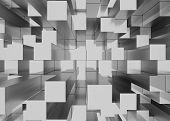 pic of three-dimensional  - Illustration of abstract mosaic three - JPG