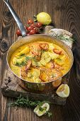 foto of stew  - Brazilian fish and seafood stew  - JPG