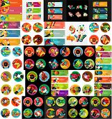 pic of universal sign  - Mega collection of flat web infographic concepts and banners - JPG
