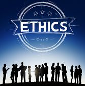 picture of ethics  - Ethics Integrity Fairness Ideals Behavior Values Concept - JPG
