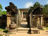 picture of vihara  - Polonnaruwa ruin was the second capital of Sri Lanka after the destruction of Polonnaruwa - JPG