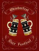 picture of stein  - Oktoberfest celebration design with german beer stein - JPG