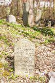 stock photo of cemetery  - Jewish cemetery - JPG