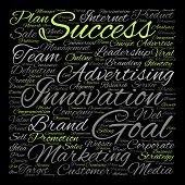 stock photo of text cloud  - Concept or conceptual leadership marketing or business text word cloud isolated on background - JPG