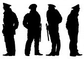 picture of police  - People of special police force on white background - JPG