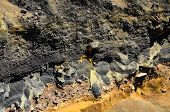 image of volcanic  - Seamless Colored Dry Hardened Volcanic Lava Texture - JPG