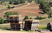 picture of pallet  - Pallets on an Australian Winery Vineyard in Sydney Australia - JPG