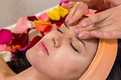 picture of facials  - Beautiful woman in salon - JPG