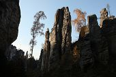 stock photo of rocking  - The Prachov Rocks - JPG