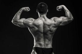image of muscle  - Muscular man bodybuilder - JPG