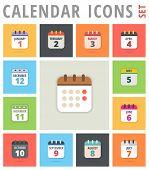 Постер, плакат: Calendar Icons set Calendar Icons Vector Calendar Icon Picture Calendar Icon Graphic Calenda