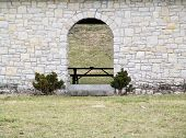 pic of safe haven  - an arched doorway in a block shelterhouse - JPG