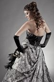 picture of night gown  - Beautiful woman wearing evening gown - JPG