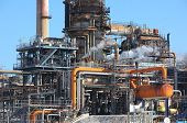 stock photo of oil rig  - Oil refining facility in Lavera southern France - JPG