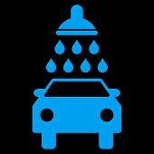 Car Wash Flat Vector Symbol poster