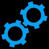 Постер, плакат: Gears Flat Vector Symbol
