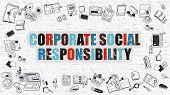 Постер, плакат: Corporate Social Responsibility Concept
