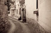 image of olden days  - Retro photo of street in old mediterranean town - JPG