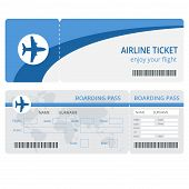 Постер, плакат: Plane ticket design Plane ticket vector Blank plane tickets isolated Blank plane tickets EPS Pla